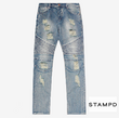 STAMPD DISTRESSEDMOTODENIM