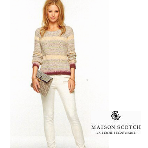 MAISON Summer Knit with dip-dye