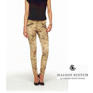 MAISON Skinny With zip pants