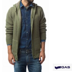 GAS Hooded cardigan