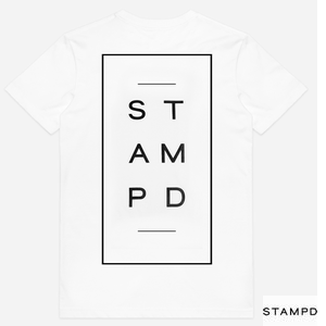 STAMPD StackedlogoTeeWhite