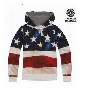 FRANKLIN  USA flag sweatshirt