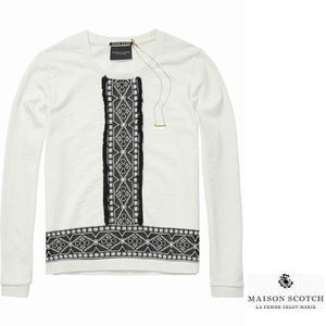 MAISON EmbroideredSweater